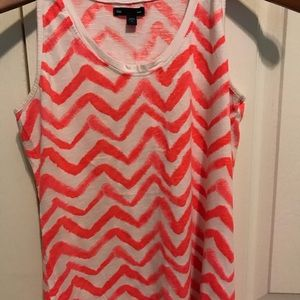 Zig-zag Orange and White Gap Tank Top